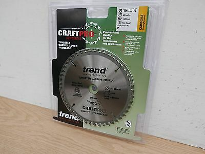 Trend 160Mm 48T Tct 20Mm Bore  Saw Blade Fits Festool Ts55 Csb/16048