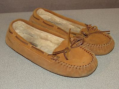MINNETONKA Brown Leather Moccasin Shoes Women's Size 9