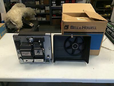 BELL & HOWELL #456 A DUAL SUPER 8 mm MOVIE FILM PROJECTOR Works Great! W/ Box