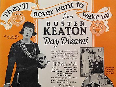 BUSTER KEATON Vintage 1922 THE BALLOONATIC Silent Film MOVIE TRADE AD Daydreams