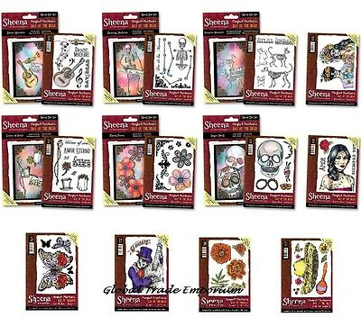NEW Sheena Douglass PERFECT PARTNERS - DAY OF THE DEAD COLLECTION Stamps & Dies