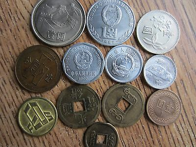 Mixed Lot of Asian 12 Chinese Coins