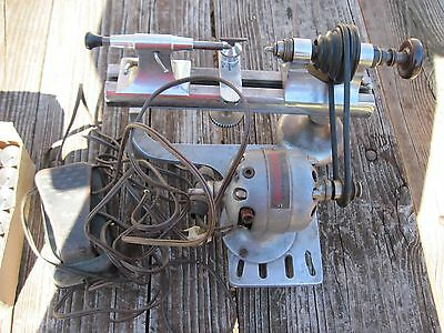 Moseley Watchmaker's Jeweler's Lathe - Made in USA - With Many Collets