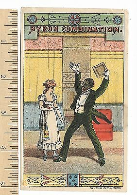 Byron Combination Comedians Vaudeville Black Theatrical Trade Card