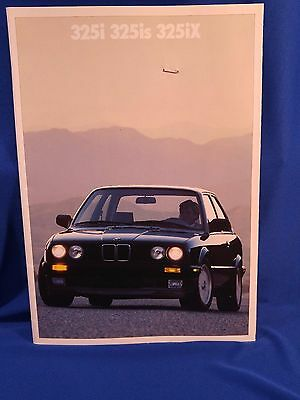 Vtg 1989 BMW 325i 325is 325iX DEALERSHIP CAR AUTO US Sales CATALOG Brochure