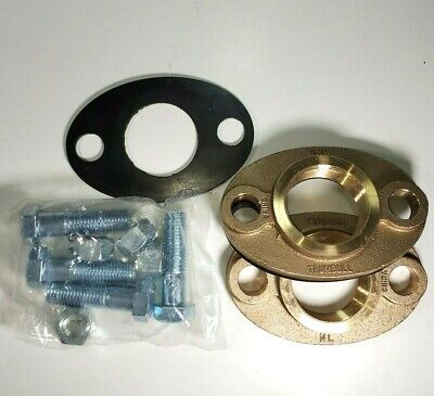 """2"""" Lead-free Brass Water Meter Flange Connection Kit For 2"""" Meter, w/bolts, gkts"""
