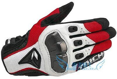 RS Taichi RST391 Mens Perforated leather Motorcycle Mesh Gloves Black Red White