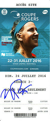Monica Puig Signed 2016 Montreal Canada WTA Rogers Cup Tennis Ticket