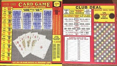 $1.00 CLUB DEAL & Little Giant Card - Punch Card GAME Board Play Raffle Gambling