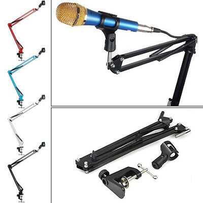 Broadcast MIC Microphone Suspension Boom Scissor Arm Mic Stand Studio Recording