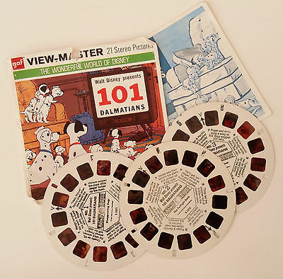 Viewmaster - Disney's 101 Dalmations - 3 Reels, Packet and Booklet