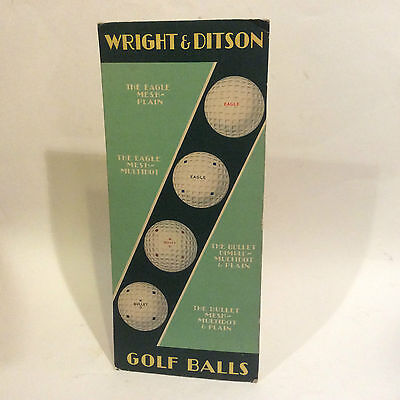 Rare Antique Advertising Sign Golf Ball Wright & Ditson Square Dimple  Art Deco