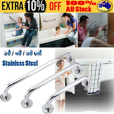 "Top Grab Bar Stainless Steel Bathroom Mobility Support Handle Rail 12""/15""/20"" D"