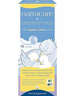 Natra Care Organic Maternity Pads Pack Of 10 High Quality Fast Delivery New