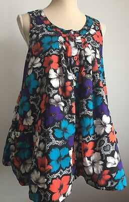 FRENCH CONNECTION Women's Pregnancy Maternity Floral Top Size 12