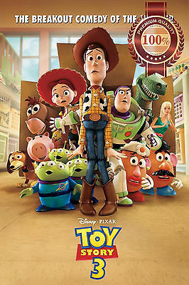 New Toy Story 3 Three Iii Pixar Cartoon Kids Movie Photo Print - Premium Poster