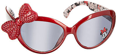 Disney Minnie Mouse Girls Bow Sunglasses One Size Red