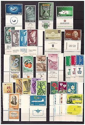 s15153) ISRAEL MNH** 1955/59, selection of complete sets 30v
