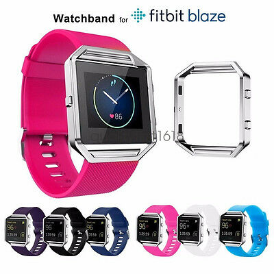 Replacement Sport Silicon Watch Bands and Frame for Fitbit Blaze Tracker Strap