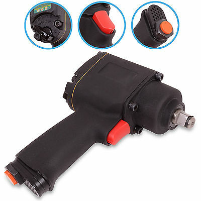 "1/2"" Twin Hammer Car Van Vehicle Garage Workshop Air Impact Wrench Socket Gun"