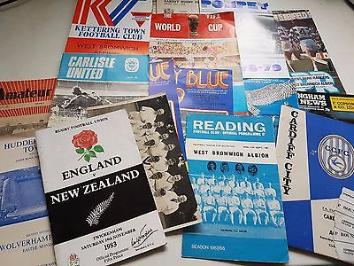 60s 70s Joblot Football Programmes West Brom World Cup QPR Pompey plus many more