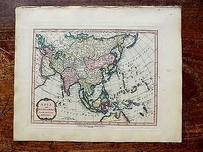 1801 Asia and its Islands Laurie Whittle Map Old Antique New Holland Japan Korea