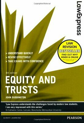 Law Express: Equity and Trusts (revision Guide), Duddington, John Book The Cheap