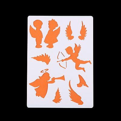 2Pcs Painting Embossing Stencils Scrapbooking Paper Cards DIY Craft Tools