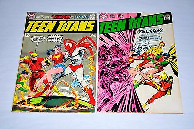 Teen Titans 21 22 NICE Neal Adams Lot Hawk and Dover