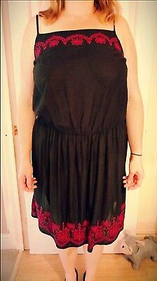 Black Semi sheer dress size 14 /16