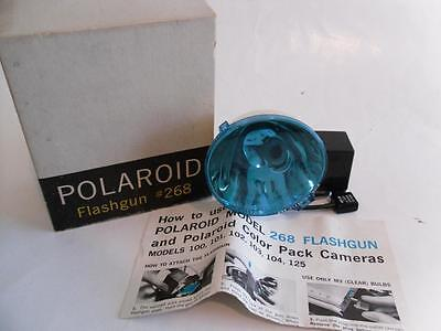 Vintage Polaroid Flashgun #268 with Box, Manual, Flash, and Cards - NO Reserve