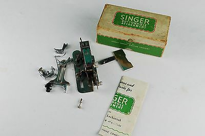 #121795 Vintage Singer Buttonhole Attachment In Original Box With Misc Parts