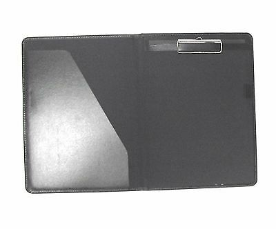 Black  PU A4 Conference Folder style 295 with clipboard
