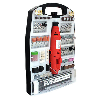 Voche® Mini Rotary Hobby Drill Combi Multi Grinder Tool + 260Pc Accessory Set