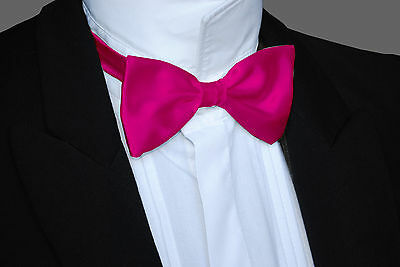 SATIN Pre-Tied Adjustable Dicky Dickie Bow Tie - ALL COLOURS
