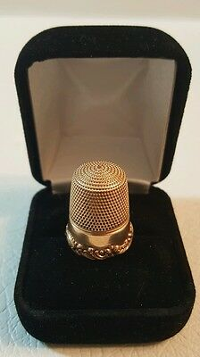 antique victorian 14K solid yellow gold Ornate sewing thimble 6.4 gr