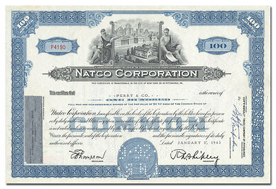 Natco Corporation Stock Certificate