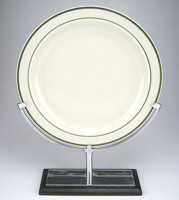 """Chrome Plate Holder On Marble Base, Vertical Home Display 10"""" Plates"""