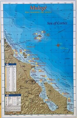 BAJA DIRECTIONS Fishing Charts Map of Baja Mexico Sur, Mulege