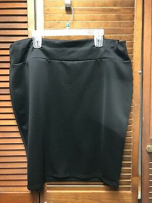 DG NY PLUS SIZE 3X Straight Black Pencil Skirt Double Knit Fabric