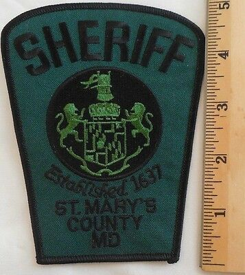St. Mary's County Maryland Sheriff Patch (Highway Patrol, State Police)