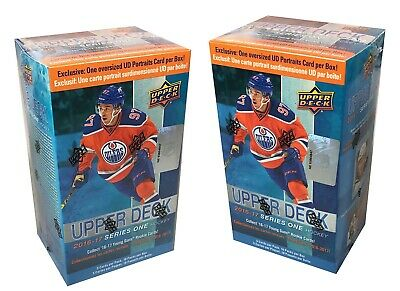 2016-17 Upper Deck Series 1 hockey cards lot 2 Blaster Boxes with Oversize Card
