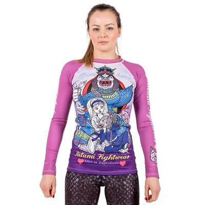 Tatami Alice In Jiu Jitsu Land Ladies BJJ Rash Guard Womens MMA Compression Top