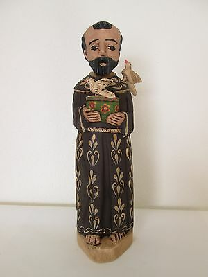 St. Francis Painted Wood Statue