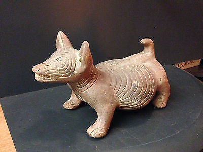"""Large Pre-Columbian West Mexican Colima Perro """"Dog"""" Statue"""