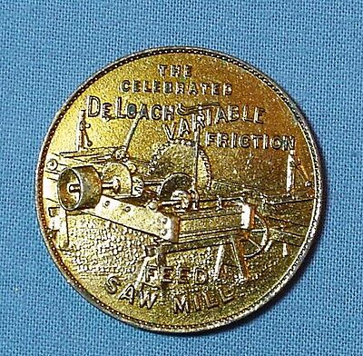 Pictorial Saw Mill Token from Atlanta, Georgia, St. Louis and New York