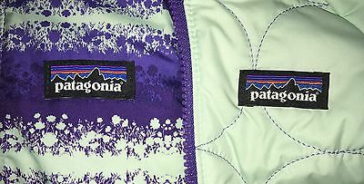 NEW PATAGONIA BABY REVERSIBLE TRIBBLES PURPLE & BLUE PUFFER JACKET GiRLS SiZE 3M