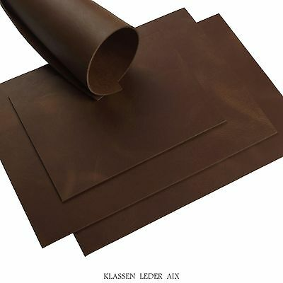 Buffalo Leather Brown Pull-Up Finish 3,0 mm Real Cowhide Croupon Leather LARP 37