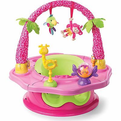 Summer Infant Island Giggles Deluxe SuperSeat, 3 in 1 Activity Booster, GIRL