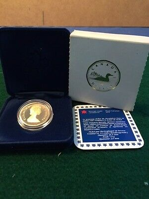 1987 CANADIAN DOLLAR (Loon on reverse)  PROOF IN DISPLAY CASE